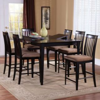Montreal 7 Piece Butterfly Pub Table Set   Dining Table Sets