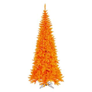Vickerman Orange Slim Fir Pre lit Christmas Tree   Christmas Trees