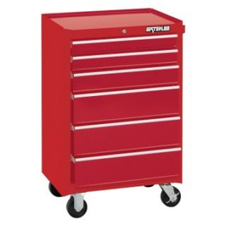 Waterloo 26 in. Red 6 Drawer Cabinet   Tool Chests & Cabinets