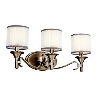 Kichler 45283AP Lacey 3 Light Bath Fixture   22W in. Antique Pewter   Bathroom Lighting