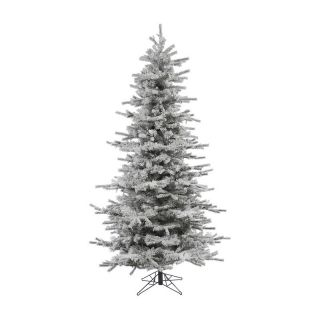 Sierra Flocked Slim Christmas Tree   Christmas Trees