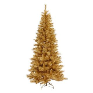 Vickerman Gold Glitter Cashmere Unlit Christmas Tree   Christmas Trees