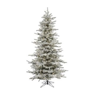 Sierra Flocked Slim Pre Lit LED Christmas Tree   Christmas Trees