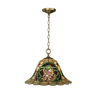 Dale Tiffany Triple Rose Tiffany Hanging Fixture   16.75W in. Antique Brass   Tiffany Ceiling Lighting