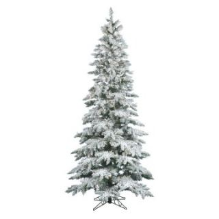 Vickerman 7.5 ft. Flocked Slim Utica Fir Dura Lit Christmas Tree   Christmas Trees
