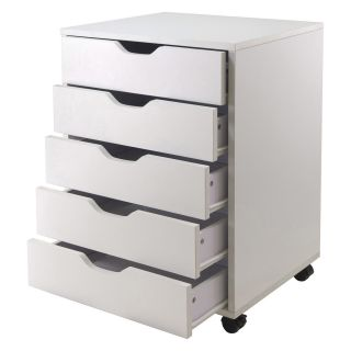 Winsome Halifax 5 Drawer Closet Cabinet   White