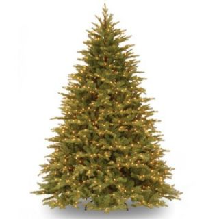 7.5 ft. Feel Real Nordic Spruce Hinged Pre Lit Christmas Tree   Clear Lights   Christmas Trees