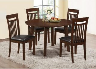 Monarch Antique Oak 48 in. Round Four Post Leg Dining Table   Dining Tables