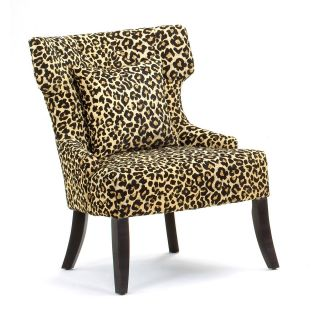 Gaia Leopard Print Accent Chair   Accent Chairs