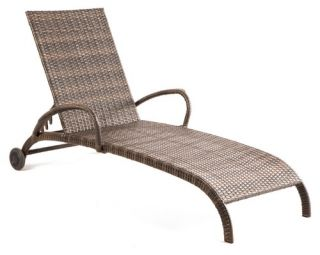 Tutto All Weather Wicker Adjustable Chaise Lounge   Wicker Chairs & Seating
