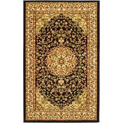 Lyndhurst Collection Black/ Ivory Rug (5'3 x 7'6) Safavieh 5x8   6x9 Rugs
