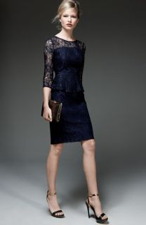 Adrianna Papell Lace Dress & Accessories