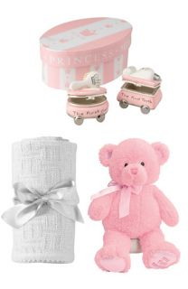 Gund Teddy Bear, Mud Pie Treasure Boxes &  Blanket