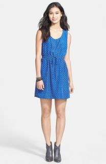 BeBop Split Back Polka Dot Dress (Juniors)