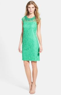 Adrianna Papell Peplum Lace Sheath Dress (Regular & Petite)