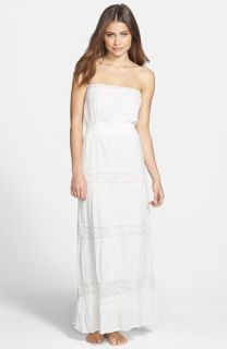 Surf Gypsy Crochet Detail Strapless Maxi Dress