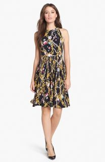 Isaac Mizrahi New York Print Jersey Fit & Flare Dress