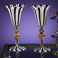 Authentic Murano Glass Goblets (Set of 2) Glassware