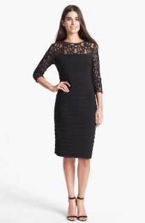 Adrianna Papell Shutter Pleat Sheath Dress