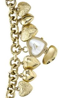 Anne Klein Heart Charm Bracelet Watch, 25mm