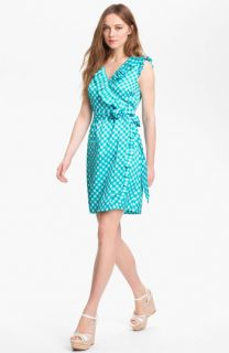 kate spade new york aubrey silk blend wrap dress