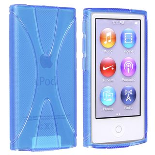 BasAcc Blue TPU Rubber Skin Case for Apple� iPod nano 7th Generation BasAcc Cases