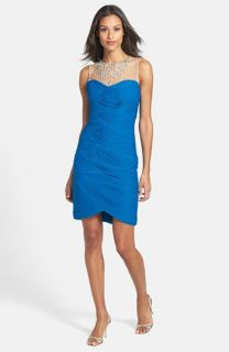 Adrianna Papell Embellished Tiered Sheath Dress