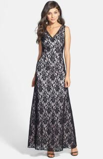 Hailey by Adrianna Papell Sleeveless Lace Gown