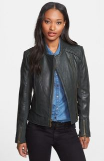 MICHAEL Michael Kors Textured Leather Jacket