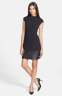 Ted Baker London Leather Accent Sheath Dress