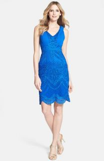 Sue Wong Soutache Embroidered Sheath Dress