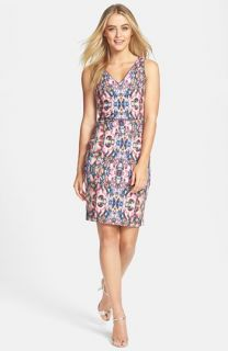 Nicole Miller Print Stretch Sheath Dress