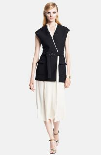 Lanvin Sleeveless Belted Wrap Dress