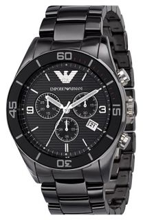 Emporio Armani Large Ceramic Chronograph Watch