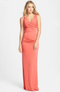 Nicole Miller Cross Back Jersey Gown
