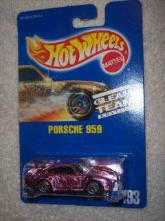 #193 Porsche 959 Dark Pink Collectible Collector Car Mattel Hot Wheels Toys & Games