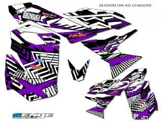 Senge Graphics 2003 2009 Ski Doo REV series Mayhem Purple graphics kit Automotive