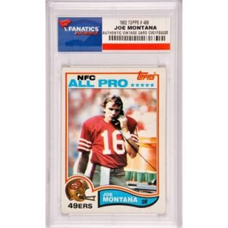 Joe Montana San Francisco 49ers 1982 Topps #488 Card