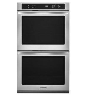 "KitchenAid KEBK206BSS Architect 30"" Stainless Steel Electric Double Wall Oven Appliances"