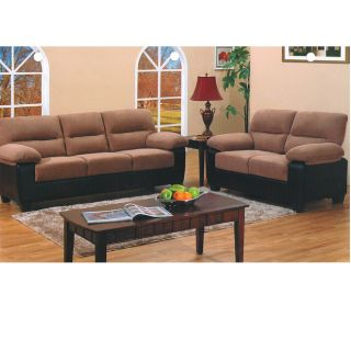 Rion 2 Piece Two Tone Sofa Set Living Room Sets