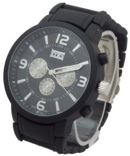 Mark Naimer Quartz Chronograph Style XL Men Watch Large Case Modern Design Black Metal Band Watches