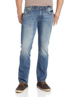 Lucky Brand Mens 221 Slim Straight in Ol Bushido, Ol Bushido, 30x32 Clothing