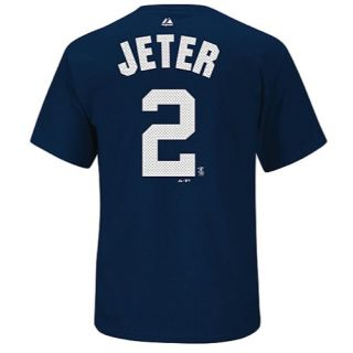 Majestic MLB Hi Definition Name & Number Tee   Mens   Baseball   Clothing   New York Yankees   Jeter, Derek   Navy