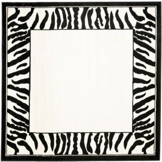 Safavieh Lyndhurst Collection LNH227A Black and White Square Area Rug, 6 Feet Square   Runners