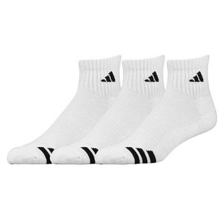 adidas 3 Stripe 3 Pack Quarter Socks   Mens   Training   Accessories   White/Black