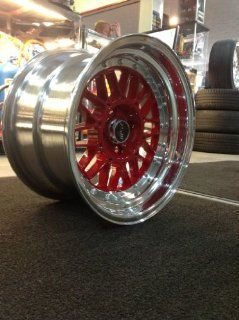 MSR 228 15x9 2 piece wheels 4x100 15mm red Color (set of four) NEW Automotive