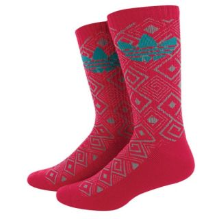 adidas Originals Geometric Crew Socks   Mens   Casual   Accessories   Blast Pink/Aluminium 2/Blast Emerald