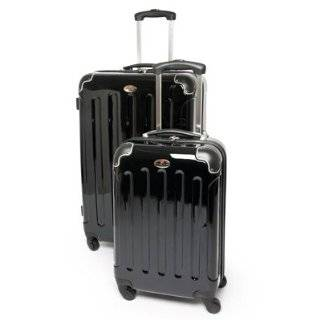 "Swiss Case 28"" Spinner BLACK Suitcase + FREE Carry on luggage set Clothing"