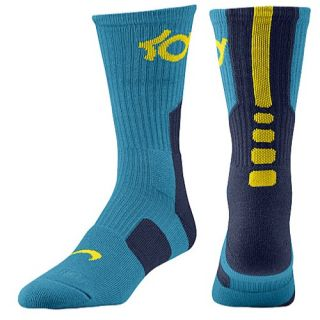 Nike KD Elite Basketball Crew Socks   Mens   Basketball   Accessories   Tropical Teal/Midnight Navy/Tour Yellow