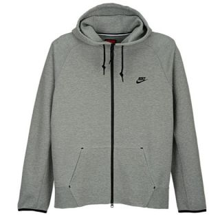 Nike Tech Fleece FZ Hoodie   Mens   Casual   Clothing   Dk Grey Heather/Black